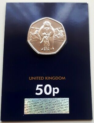 NEW 2019 THE SNOWMAN AND BOY UK 50p COIN - CERTIFIED BU - ENCAPSULATED