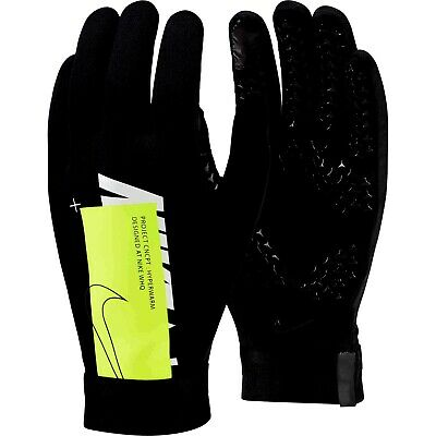Nike Air Academy Hyperwarm Field Player Mens Training Football Gloves Black Volt
