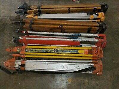 Heavy Duty Tripods for Laser Leveling and Construction, Wood and Aluminum