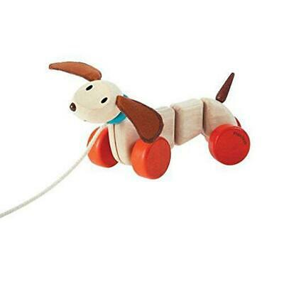 Pull-Along Happy Puppy Wooden Toy - Plan Toys Free Shipping!