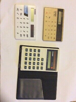 CASIO SL-760 FILM CARD RETRO VINTAGE CALCULATOR - 3 Units, Working.
