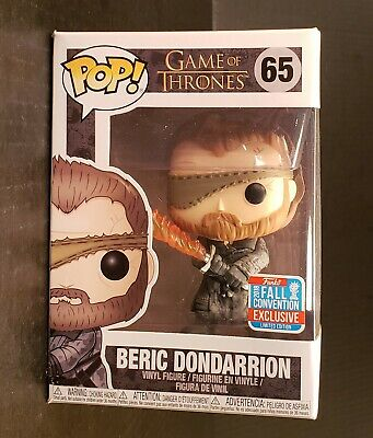 Funko Pop NYCC BERIC DONDARRION! Game of Thrones! Shared Sticker FREE PROTECTOR!