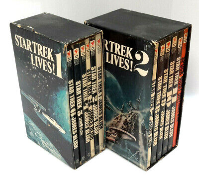 Vintage Star Trek Lives! Volume 1 &2 Boxed Blish Paperback Set of 12 (J-6071)