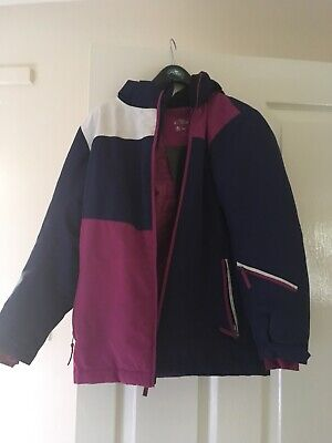 girls ski winter school coat age 10 good condition