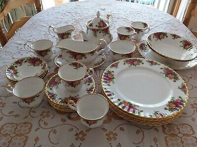 ROYAL ALBERTBONE CHINA TABLEWARE,' OLD COUNTRY ROSES '1st Quality back stamp