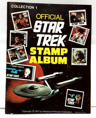 Original 1973 Official Star Trek Stamp Album w All Stamps Intact (J-6072)