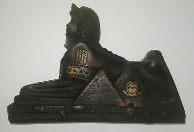 EGYPTIAN STATUE SPHINX PYRAMID PHARAOH ART hand carved FIGURINE ANCIENT Egypt