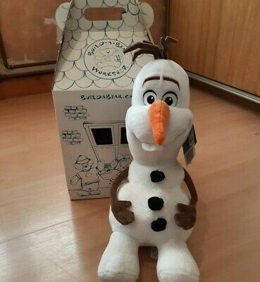 Disney Frozen Olaf Build A Bear Plush Toy Teddy Collectable New With Tags In Box