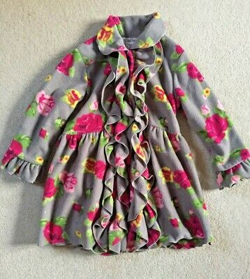 JOULES - Floral Fleece Style Dress Coat - Age 6 (6-8) years