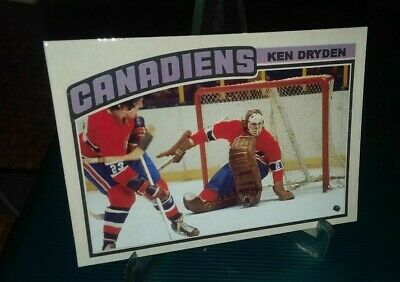 Montreal Canadiens Ken Dryden 1976  IA Custom ACEO Card Blank Back