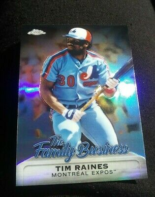 TIM RAINES 2019 Topps Chrome Update The Family Business #FBC-12 Montreal Expos