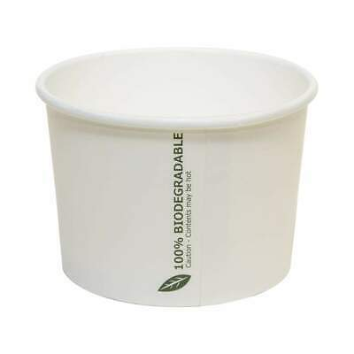 Biodegradable 16oz soup container AND lids x500