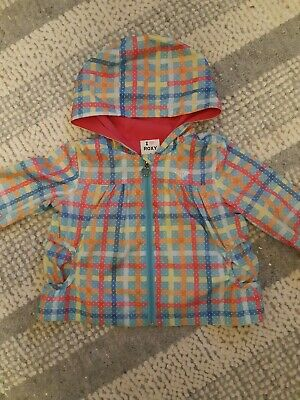 Roxy Girls Checked Shower Resistant Jacket Age 2