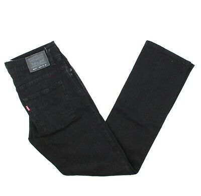 LEVIS 511 Slim Boys Black Denim Straight Leg Classic Jeans Youth Size 18 29x29