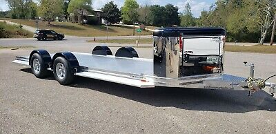 2020 Sundowner 22' Ultra All Aluminum Open Car Trailer with Polished  Front