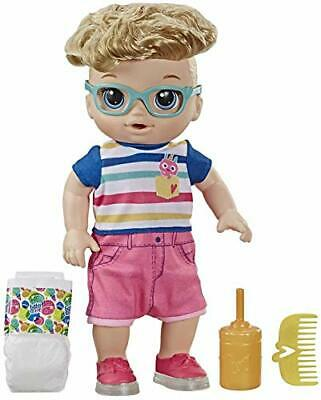 Baby Alive Step 'N Giggle Baby Blonde Hair Boy Doll with Light-Up Shoes,
