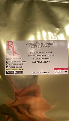 Rolling Loud LA 2-Day GA wristband/ ticket December 14-15. Never used, brand new