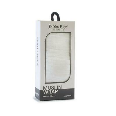 Bubba Blue Everyday Essentials - Muslin Swaddle Wrap (White) Free Shipping!
