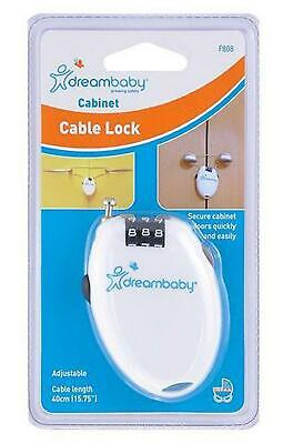 Dreambaby Combination Cabinet Cable Lock Dreambaby Free Shipping!