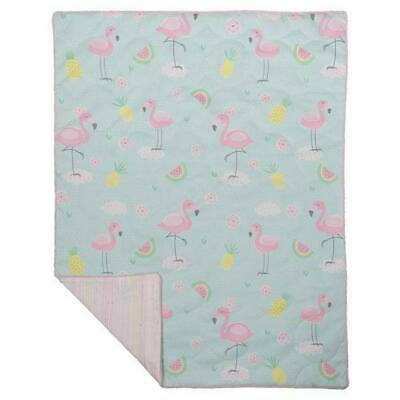 Lolli Living All Season Cot Quilt (Flamingo) - 100 x 120cm Free Shipping!