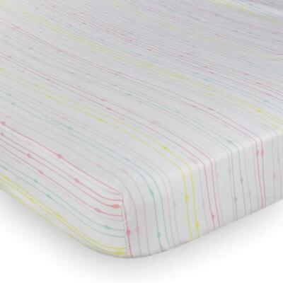 Lolli Living Cotton Fitted Sheet (Rainbow) - 77 x 132 x 19cm Free Shipping!