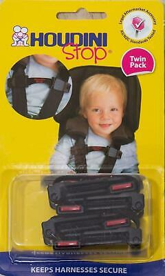 Houdini Stop Baby Car Seat Safety Harness Chest Strap Child Safety, Twin Pack
