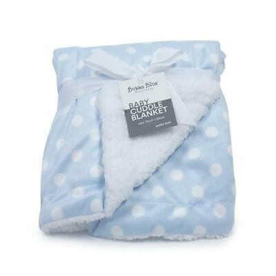 Bubba Blue Reversible Cuddle Blanket (Blue Polka Dots) Free Shipping!