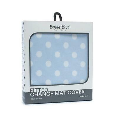 Bubba Blue Change Mat Cover (Blue Polka Dots) Free Shipping!