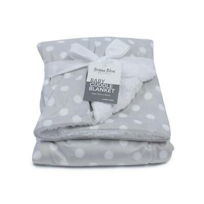 Bubba Blue Reversible Cuddle Blanket (Grey Polka Dots) Free Shipping!