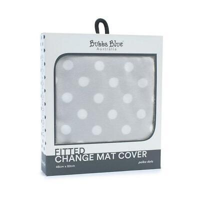 Bubba Blue Change Mat Cover (Grey Polka Dots) Free Shipping!