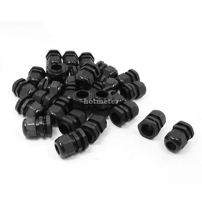 H● 30Pcs PG13.5 Plastic 6mm to12mm Dia Cable Glands Fastening Connector.