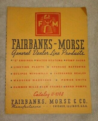 H414B FAIRBANKS MORSE DEALER PRODUCT LINE 1937 CATALOG Engines Windmills Gensets