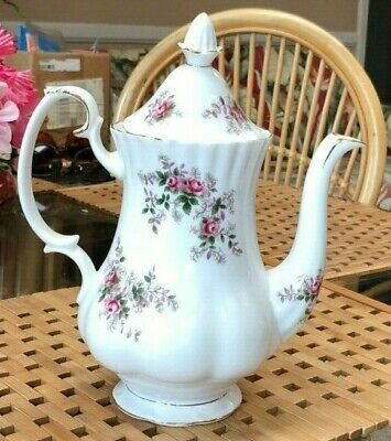 Royal Albert Lavender Rose Bone China England Coffee Pot ~ Excellent Condition