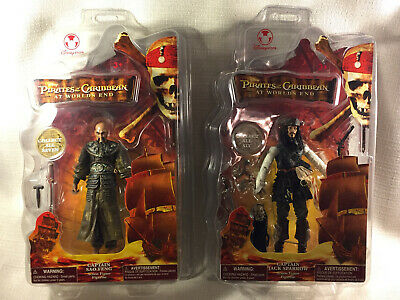 PIRATES of the CARRIBEAN World's End CAPT JACK SPARROW Action Figs Disney Lot 2