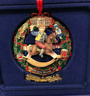 White House Historical Association Christmas 2003 Ornament with Original Box