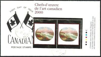 Canada    # 1863 Pair   MASTERPIECES OF CANADIAN ART      New 2000 Unaddressed