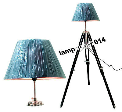 Designer Collectible Marine Nautical  Floor Lamp Wooden Tripod Office Decor