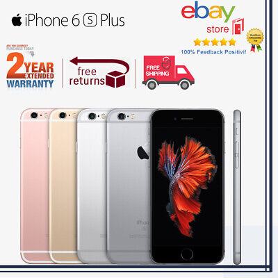 Brand New Apple iPhone 6s Plus 16GB 64GB Grey Silver Rose Gold 100% 4G Unlocked