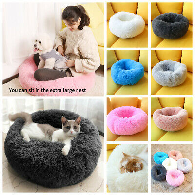 Dog Pet Cat Beds Comfy Calming Bed Large Mat Washable Cushion Soft Plush Cave UK