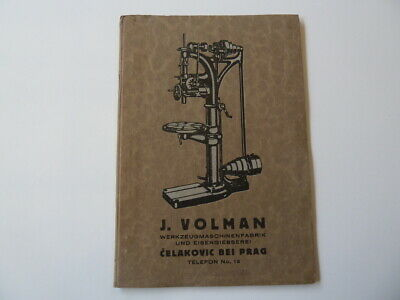 JOSEF VOLMAN MACHINE TOOL CATALOGUE CZECHOSLAVAKIA  RARE circa 1920s catalogue