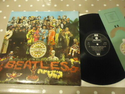 Rare Nm Uk Vinyl Lp Beatles Sgt Peppers Reissue Pcs7027 Played Once,Great Copy!!