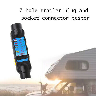 Fj- Ne_ Car Trailer Caravan 7 Pin Towing Tow Light Wiring Circuit Tester Plug So