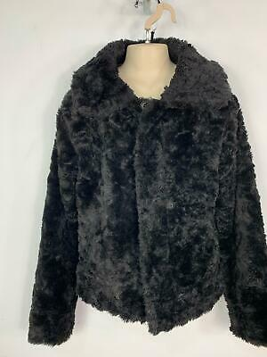 Girls H&M Young Black Faux Fur Party Evening Wear Coat Jacket Kids Age 14 Years