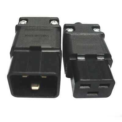 220V-250V IEC 320 C19 16A AC Plug Socket C19 Female Rewirable Connector Adapter