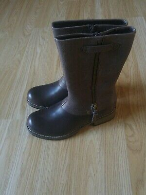 Brand New Girls Clarks Brown Leather Boots Size 13 F,High Quality Boots