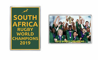 2019 RUGBY UNION WORLD CUP FINAL ~ SOUTH AFRICA CHAMPIONS Fridge Magnets #2