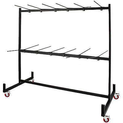 Two-Tier Folding Chair Rack 50 Chairs Capacity Dolly Cart Folding Chair Cart
