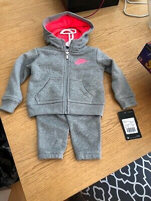 Girls Nike Fleece Tracksuit age 12 months BNWT