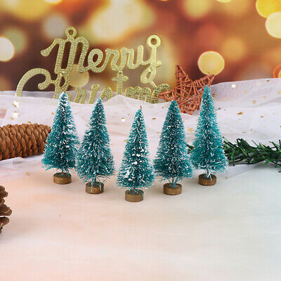 5Pcs 1: 12 Dollhouse Miniature Christmas Tree Christmas Decorations Supplies PT