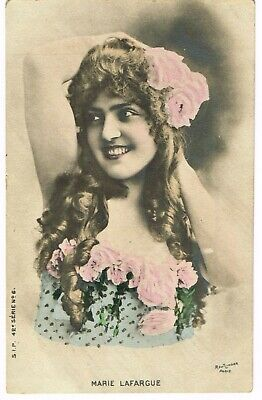 ANTIQUE 1907 COLORISED POSTCARD French Opera Singer 'Marie Lafargue'